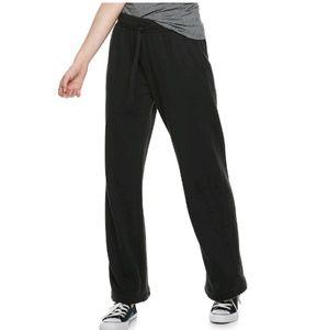 Jr's Junior's SO Drawstring Track Pants M Black